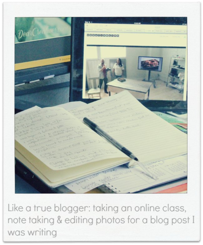 Snapshot of my day as a blogger