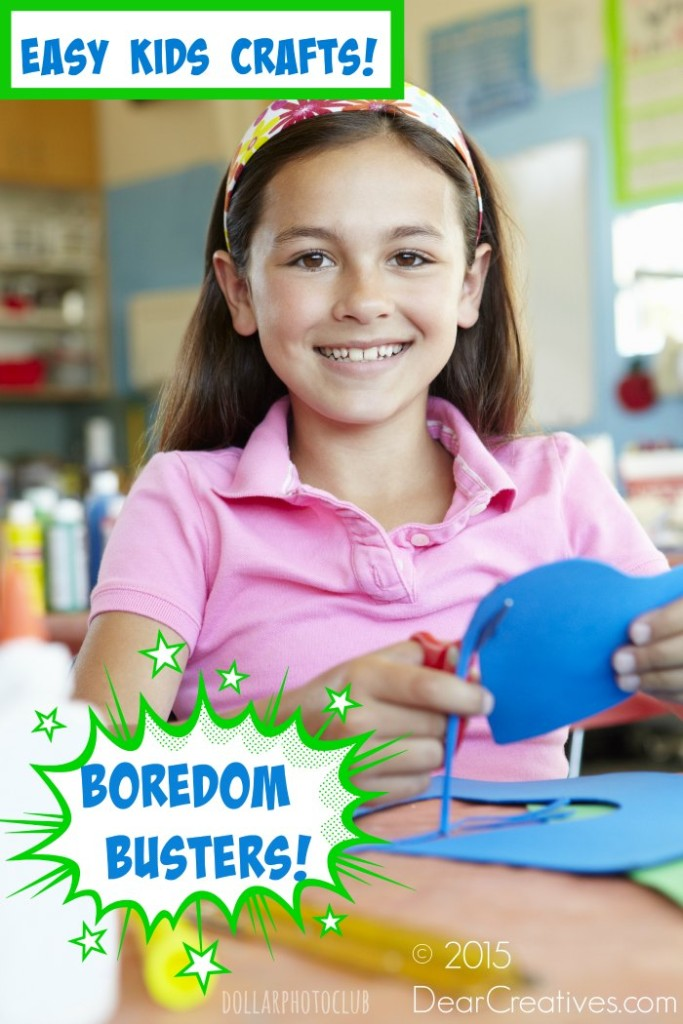 Easy Kids Crafts   Pre teen girl in art and craft class   art, craft diy project