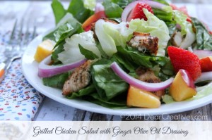 Grilled Chicken Salad, Grilled Chicken Salad with Ginger Dressing