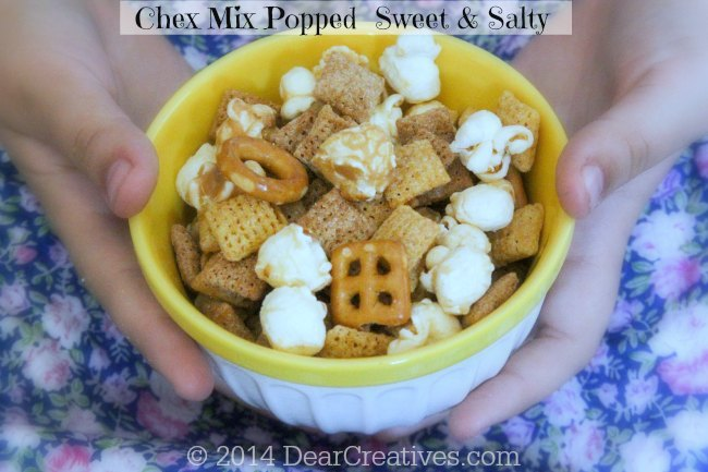 Chex Mix Popped Sweet and Salty in a bowl_