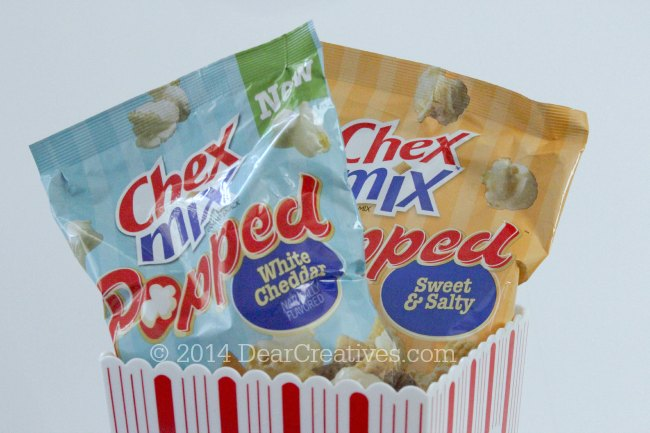 Chex Mix Popped White Cheddar and Sweet & Salty_