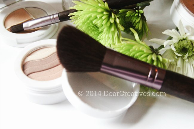 Sheer Coverage concealer and blush with brushes__