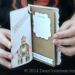 DIY Craft Projects | Paper Crafts |hands holding a mini notebook_