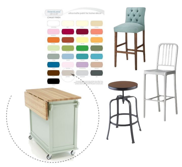 The Planning Dresser to Kitchen Island Re Purpose DIY  : bar stools and a kitchen cart from www.dearcreatives.com size 718 x 659 jpeg 48kB