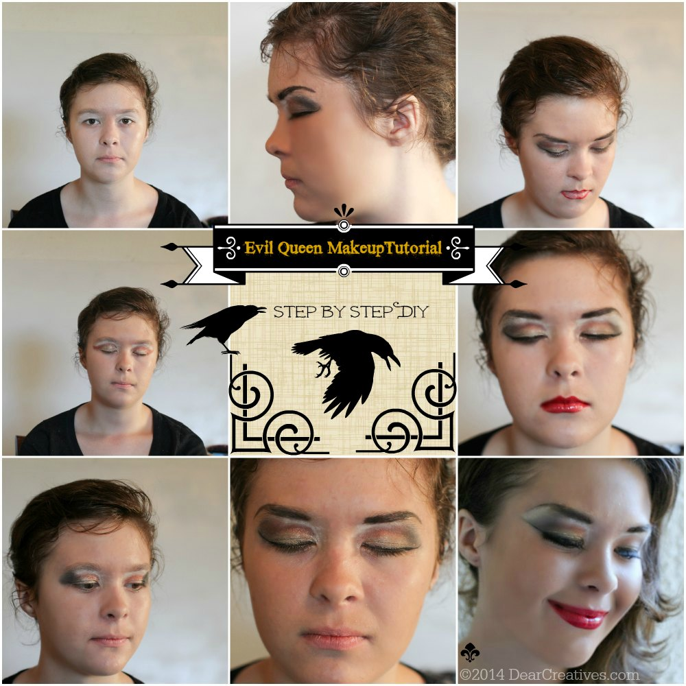 step by step makeup tutorial for evil queen makeup tutorial