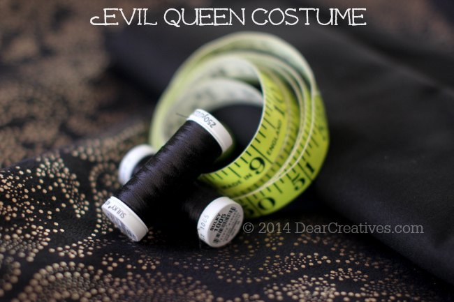 Evil Queen Costume sewing pattern and Material
