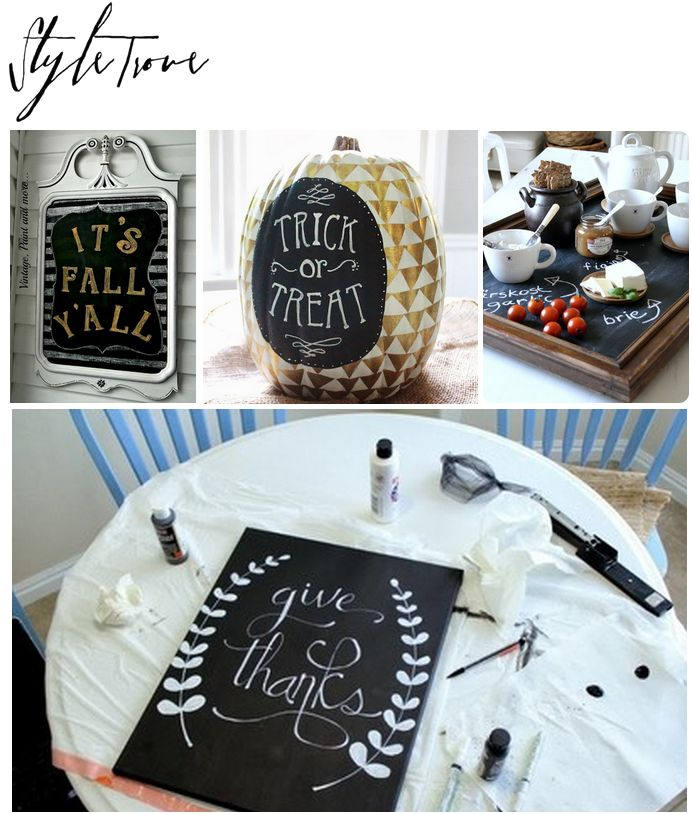 DIY Craft Projects | Fall Crafts|  Chalky Finish  DIY Craft Projects