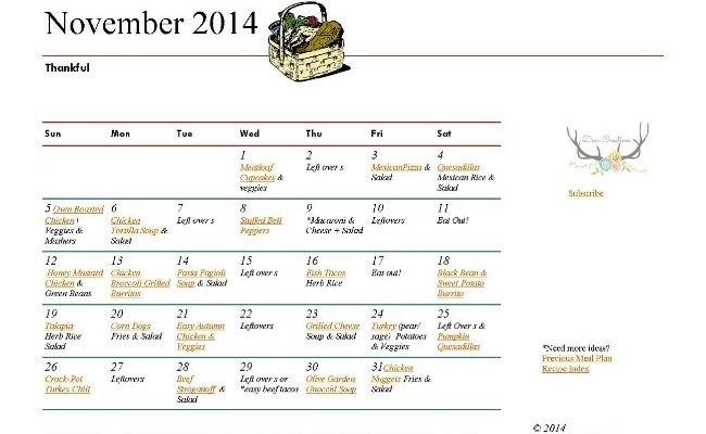 November Meal Plan_Meal Plan_Easy Dinner Recipes_Recipes