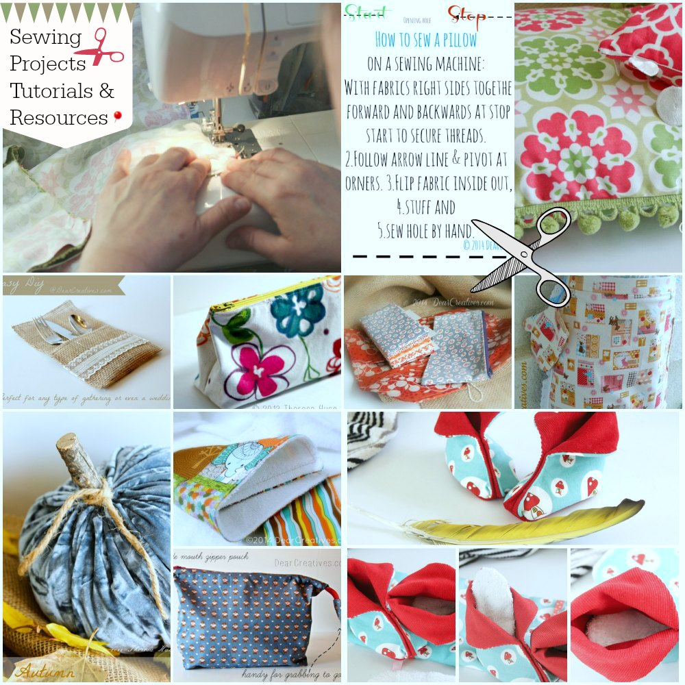 Sewing Tips- Sewing Resources- Sewing Projects-Sewing Tutorials-_DearCreatives.com_
