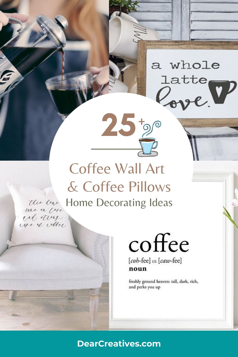 25+ Coffee Wall Art + Coffee Pillows – Decorating Ideas
