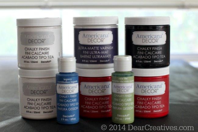 Americana Decor Chalky Finish Paints_© 2014 DearCreatives.com