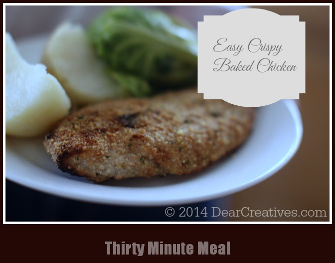Easy Crispy Oven-Baked Chicken_30 minute meal_