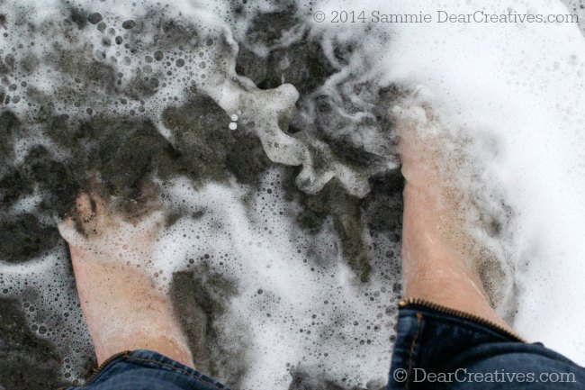 Feet in the surf at the Beach_