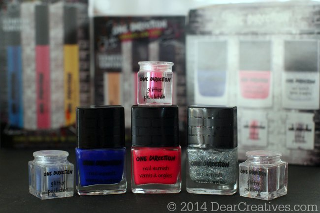 One Direction Nail Varnish_Nail Kit with glitter pots_