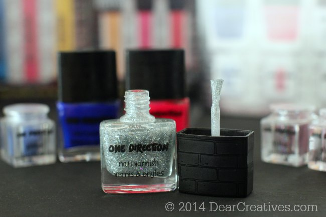 Silver sparkle nail varnish _One Direction Makeup_nail polish_