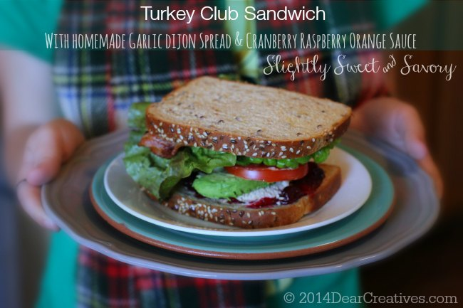 Turkey Club Sandwich On a Plate_