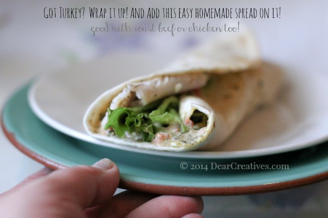 Turkey Wrap Sandwich_Wrap Sandwich with homemade spread_© 2014 DearCreatives.com