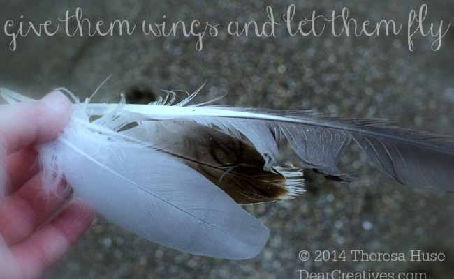 feathers in a hand_