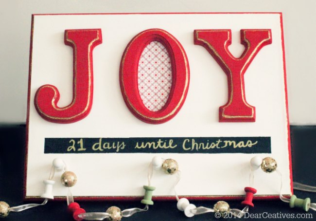 CountDown to Christmas #chalkyfinish painted sign_© Theresa Huse 2014