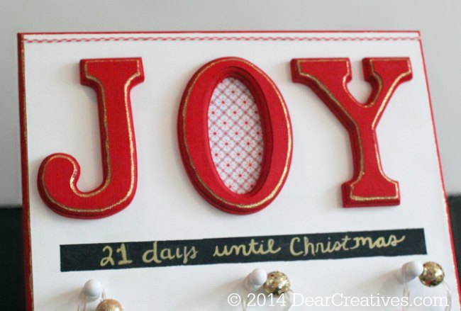 Countdown to Christmas sign made with chalk paint_© 2014 DearCreatives.com