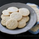 Shortbread Cookies on a plate_snowflake pressed cookies_© 2014 Theresa Huse_ DearCreatives.com