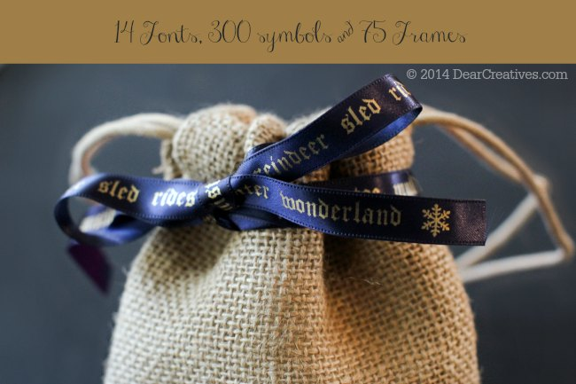 burlap bag tied with personalized message on ribbon_ Holiday Packaging_