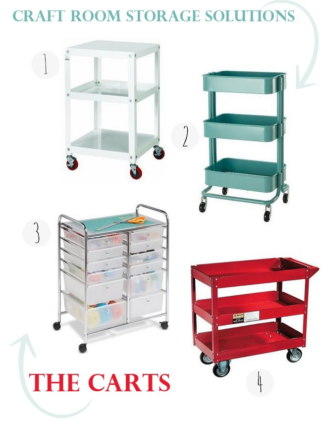 Craft-Carts-Craft Room Storage Solutions Storage Carts