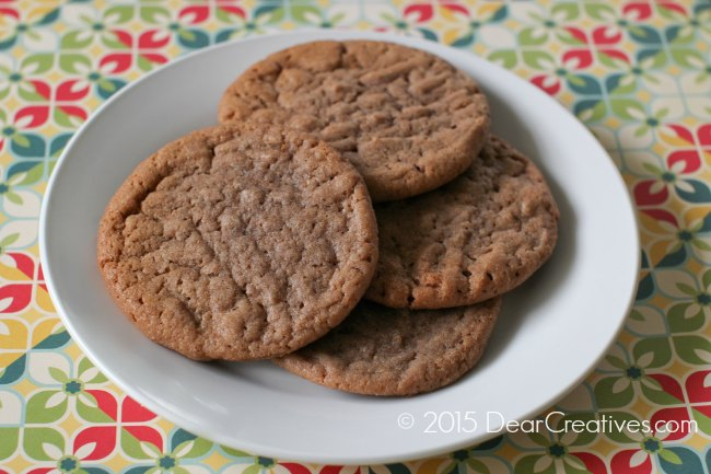 Peanut Butter Cookies on a plate_Peanut Butter Chocolate Cookies