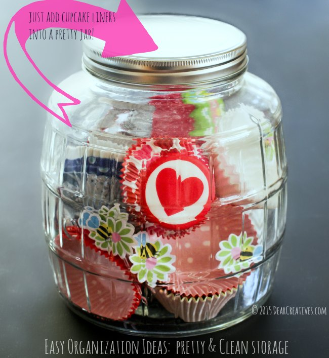 Storage jar with cupcake liners_© 2015 DearCreatives.com_Theresa Huse