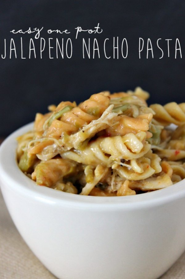 Easy One Pot Jalapeno Nacho Pasta Easy Recipe