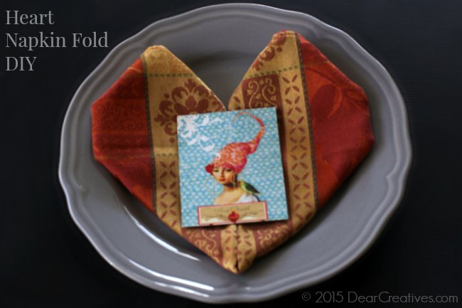 Easy DIY Projects: DIY Heart Napkin Fold Tutorial Step By Step