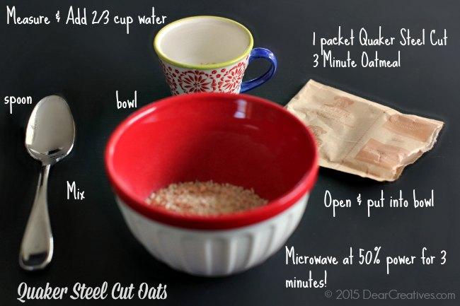 How to cook Quaker Steel Cut Oats 3 minute oatmeal