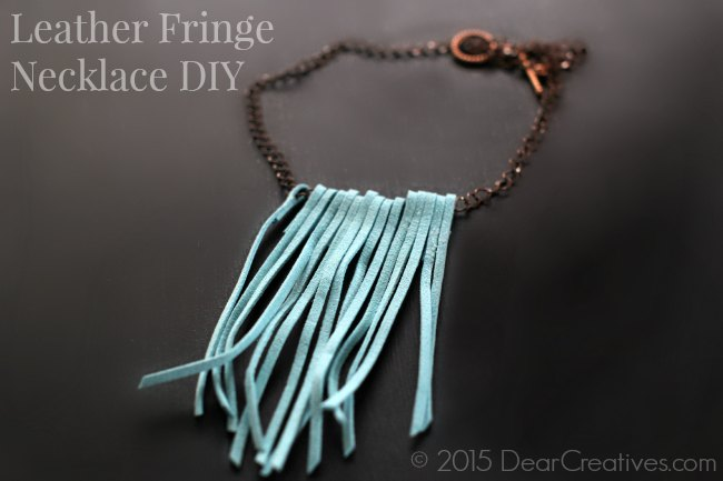 Leather Fringe Necklace DIY_Craft- Jewelry