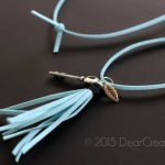 Lifestyle Fashion | Easy DIY Projects | Leather Tassel Necklace
