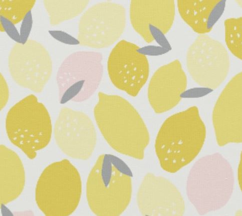 close up lemon fabric design