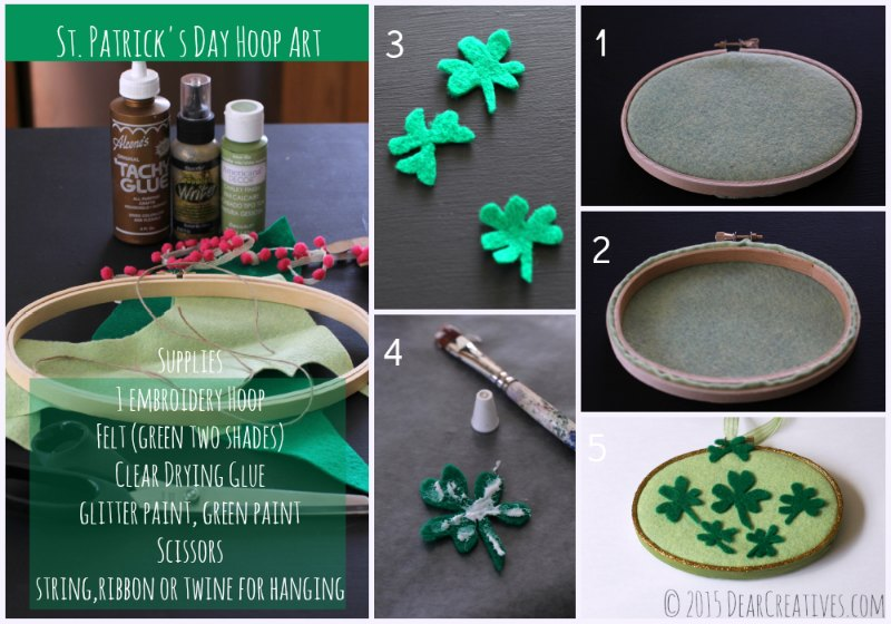 Crafts Spring  St. Patricks Day Hoop Craft