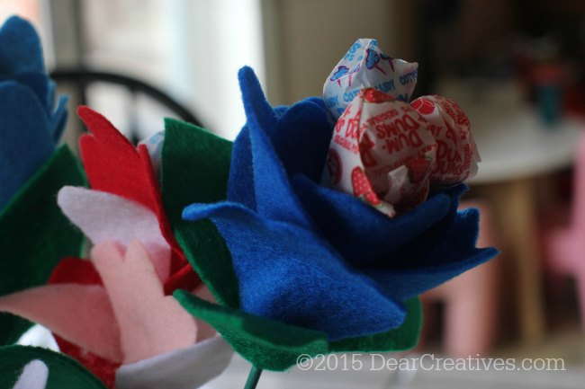 DIY Craft Project | Felt Lollipop Flowers