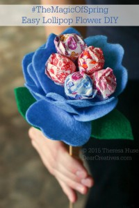 Spring Craft Project | Felt Flower Lollipop Tutorial