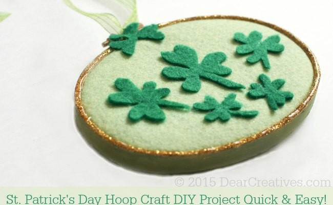 Crafts Spring: St.Patrick's Day Hoop Art