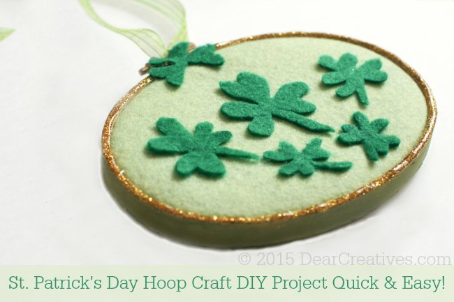 Crafts Spring DIY Crafts Project St. Patricks Day Hoop Craft Project