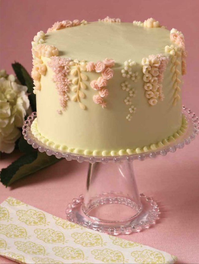 Buttercream Cake Decorating Techniques : cake piping design templates
