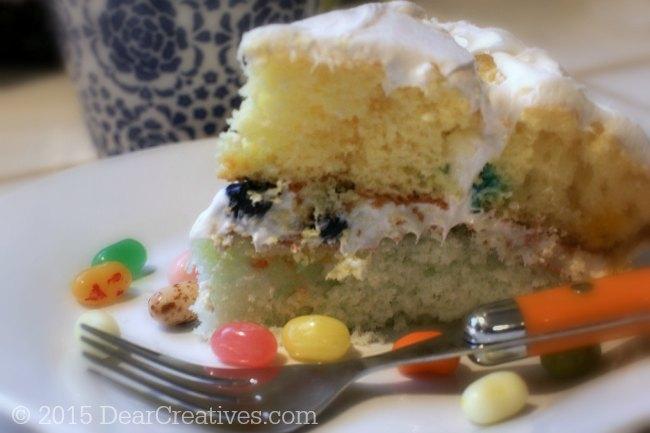 Jelly Cake Making: Easy Baking Recipe: Jelly Bean Cake DIY
