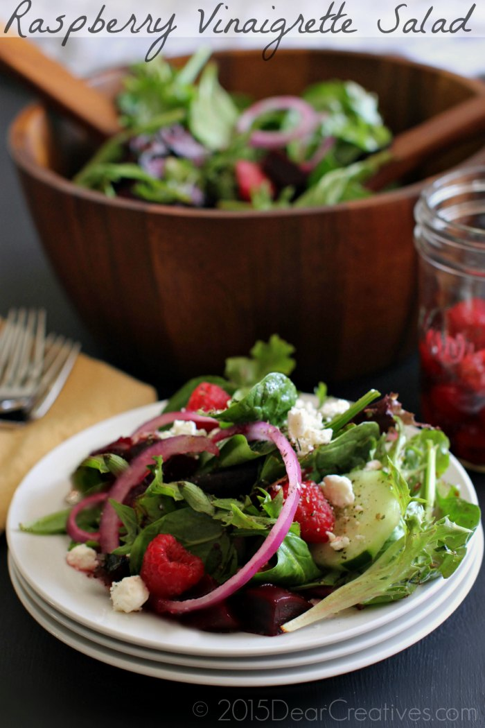 Raspberry Vinaigrette Salad | Salad with Homemade dressing