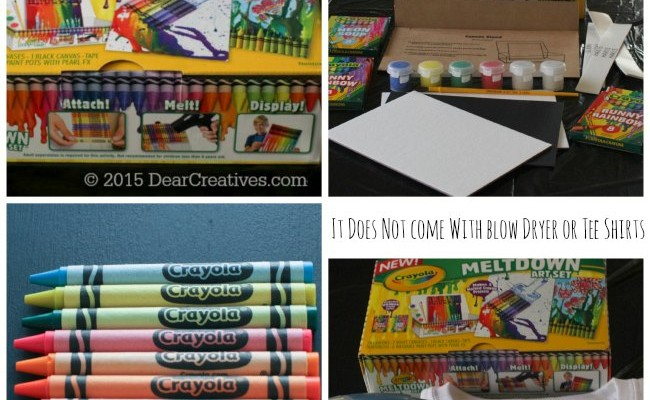 Spring Crafts For Kids: Crayola Meltdown Art Sets #DIY