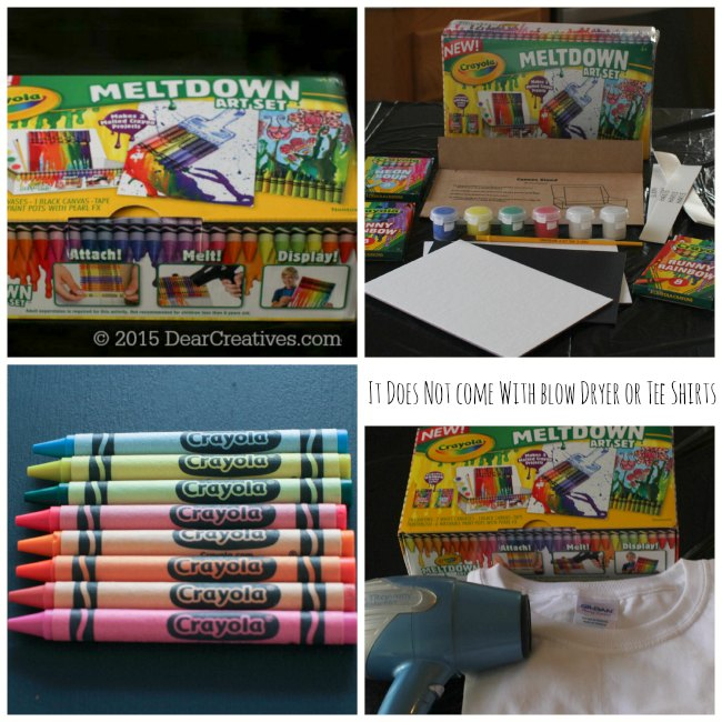 Crayola MeltDown Art Kit T-Shirt DIY + How to Use MeltDown Art Kits