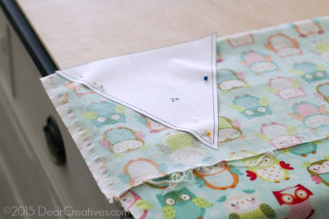 Easy Sewing Project |Banner laid out to be cut