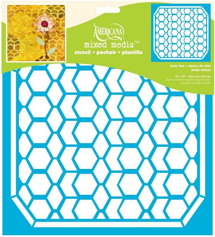 Home Decor Ideas |DecoArt Americana Busy Bee Stencil -honey comb pattern