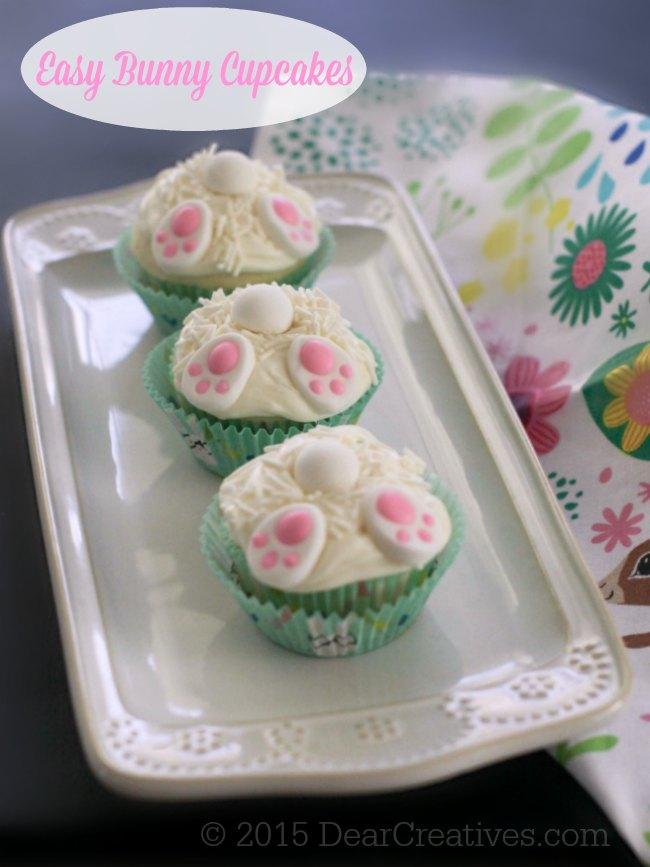 Easy Baking Ideas | Bunny Cupcakes