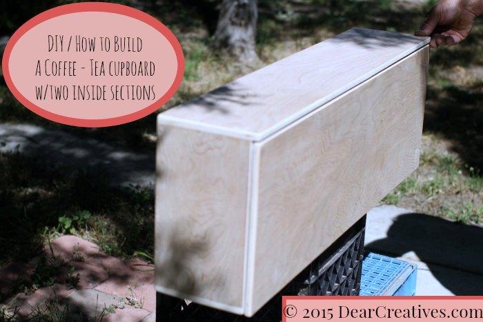Easy DIY Project: Small Cabinet Coffee Tea Cupboard