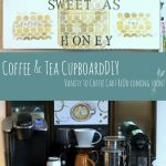 Home Decor Ideas | Coffee and Tea Cupboard with Vanity for Coffee Cart